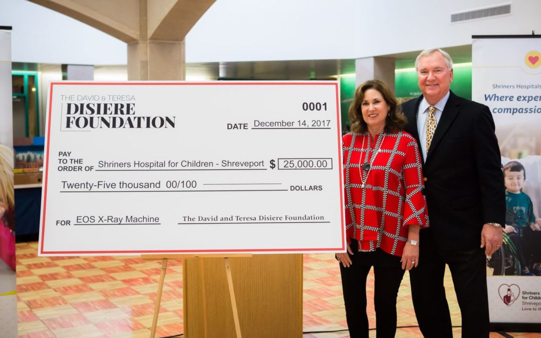 David & Teresa Disiere Foundation Donates $50,000 to Shriners Hospital for Children