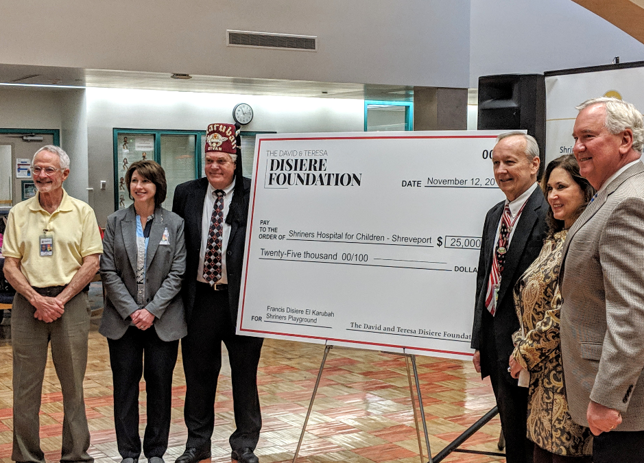 Donation Propels Shriners Hospital for Children to Playground Fundraising Goal